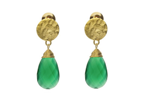 Azuni Green Onyx Earrings from Aquaruby.com