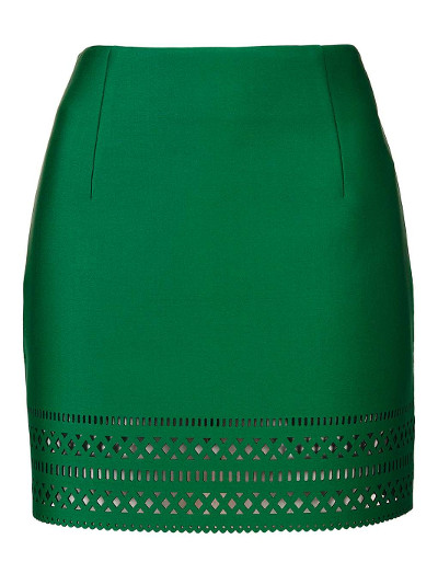 Topshop Laser Cut Skirt
